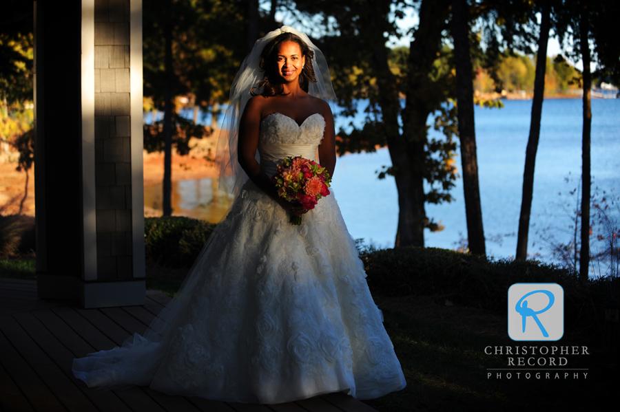 Amazing late-day light illuminates the bride