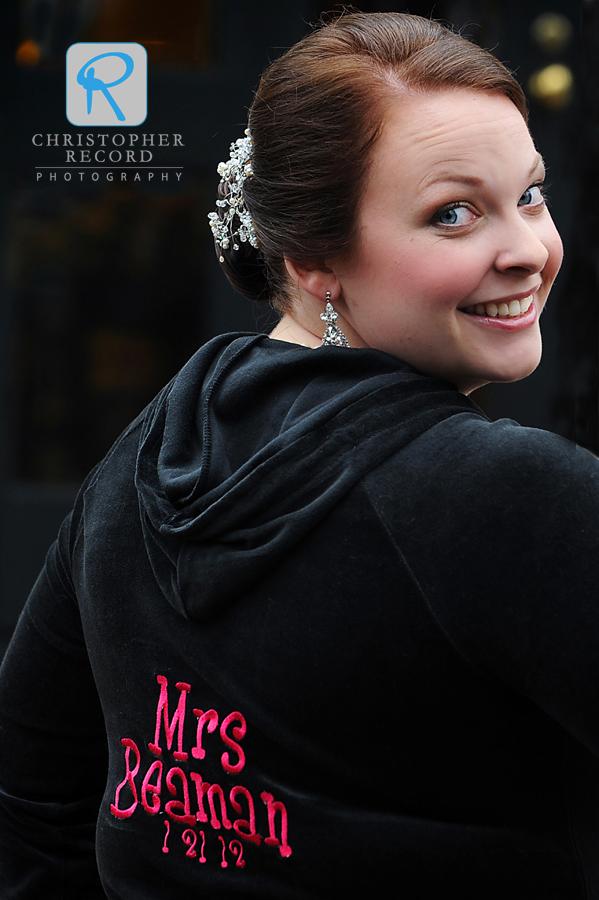 Custom attire for the bride