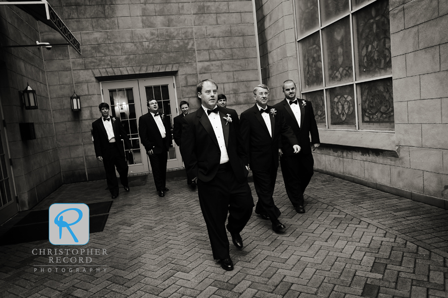 Laura captured Patrick, his father and his brother with the groomsmen