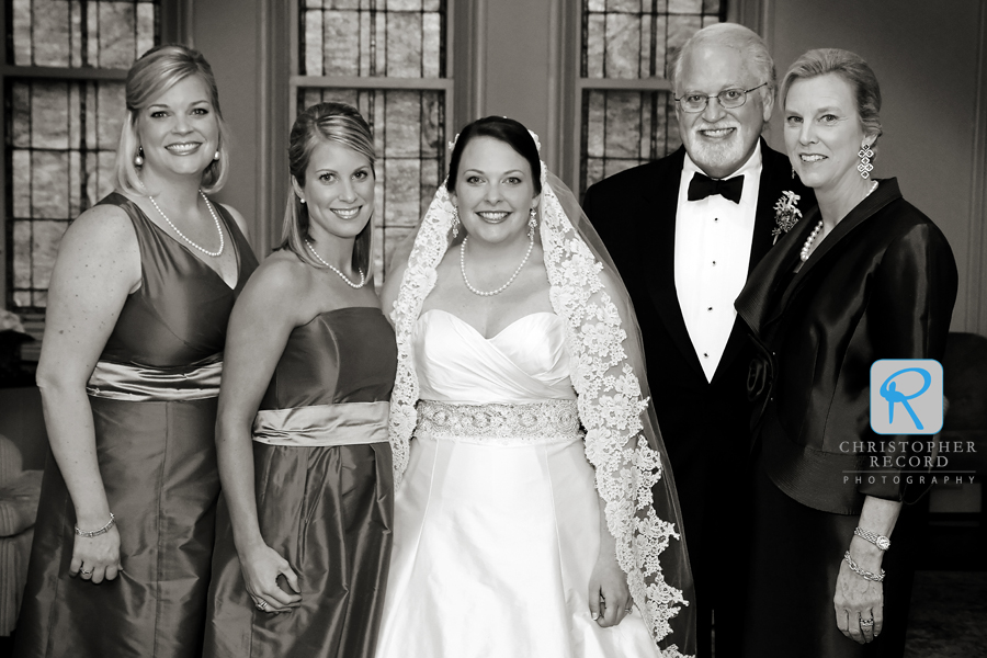 Emily with her sisters and parents