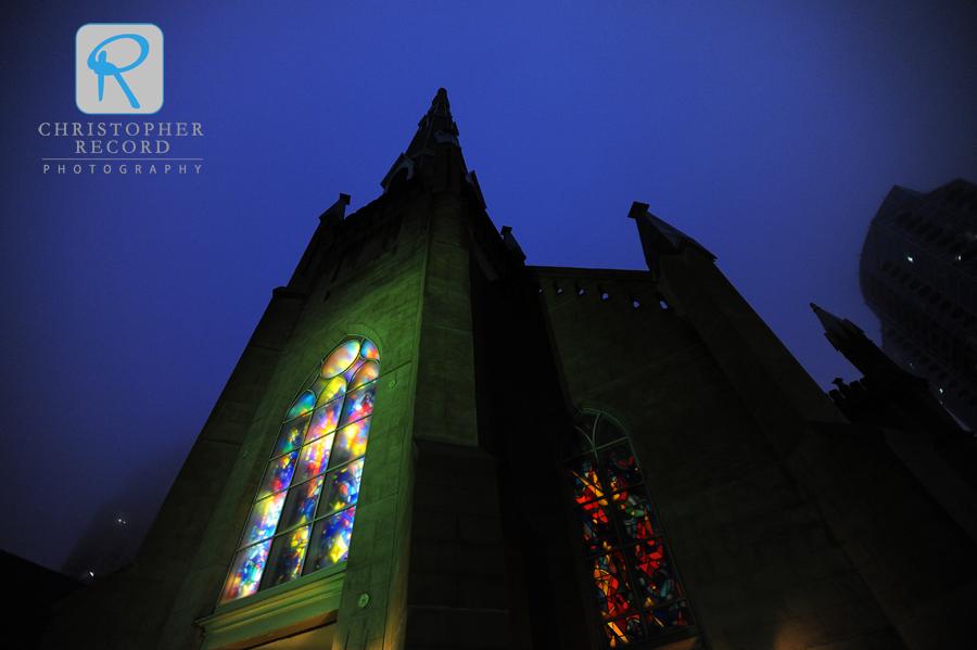 A misty night at First Presbyterian