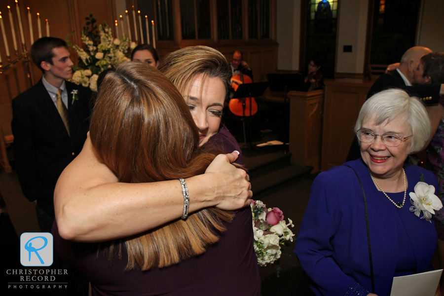 Gretchen celebrates with her sister and her mother