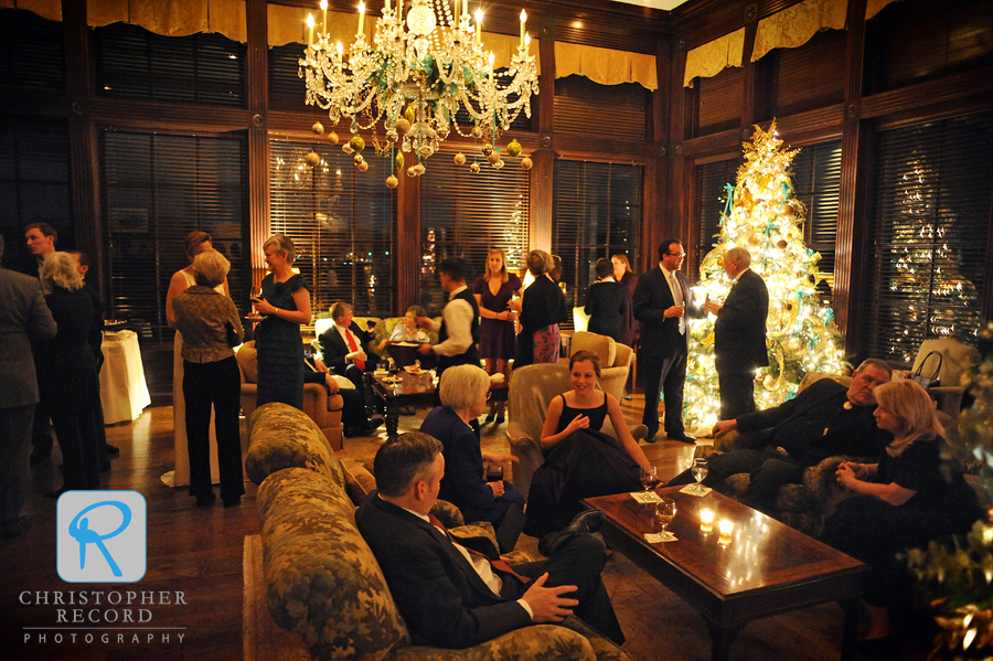 A festive holiday setting at Myers Park Country Club