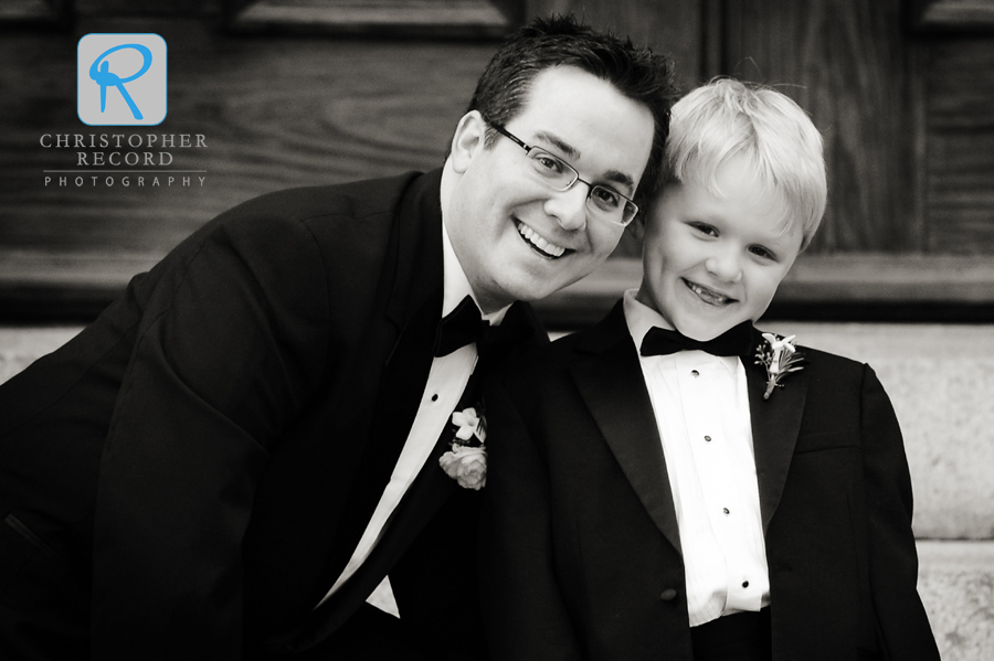 Michael with ring bearer Cameron, who is his nephew and God-son