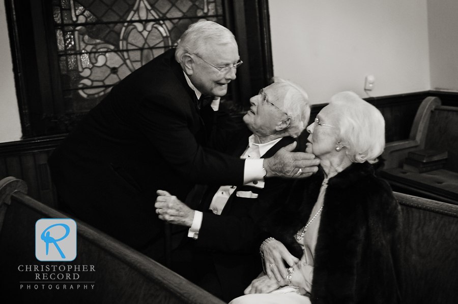 Laura captured Hunter's grandparents being greeted in the church