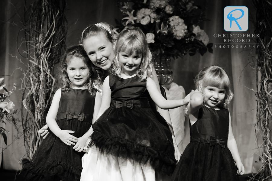 Mandi with her flower girls
