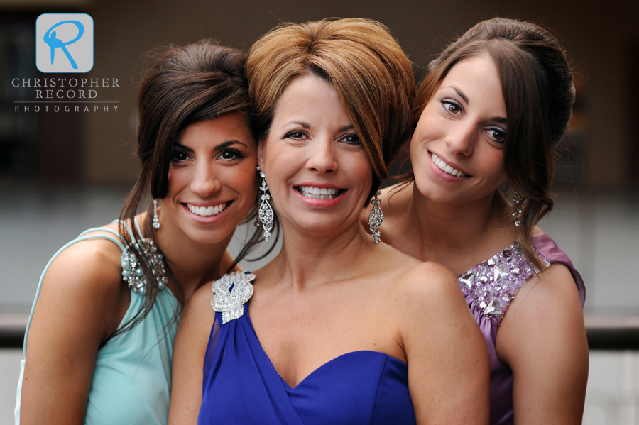Michael's mother Pam with sisters Brittany and Kaylie