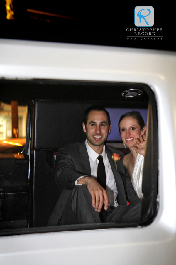Leaving in the limo