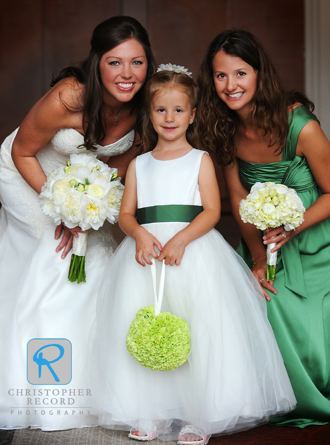 Vanessa with flower girl Avery and her mother, Brandi