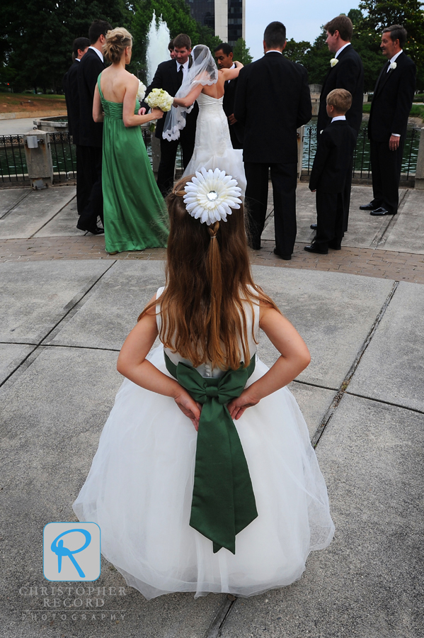 Fun shot of the flower girl from Laura