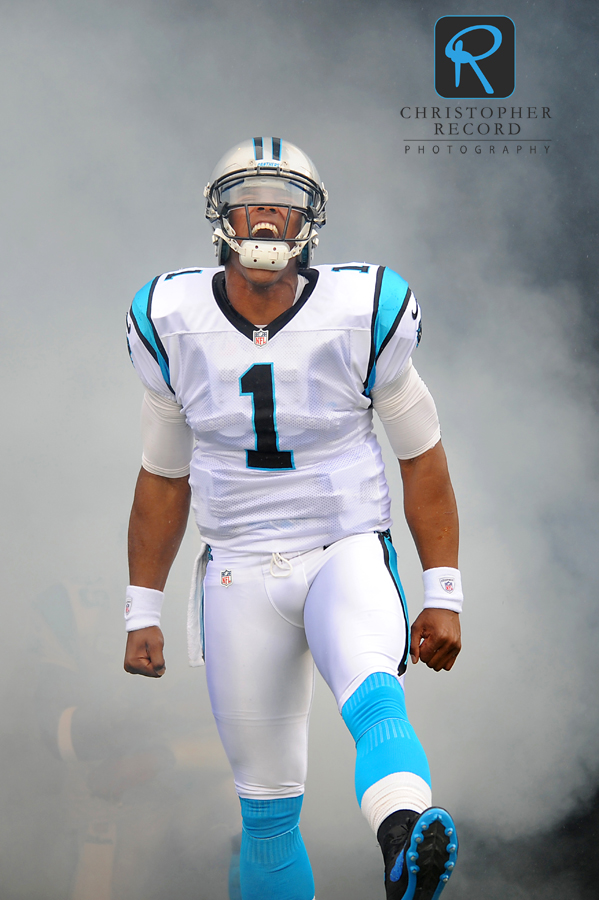Cam Newton makes a grand entrance