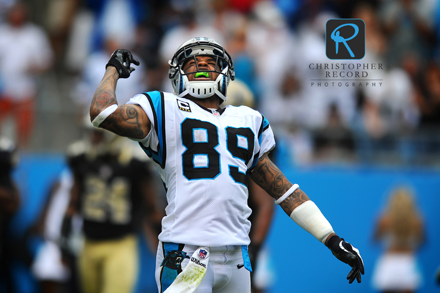 Panther receiver Steve Smith (89) celebrates after a long reception