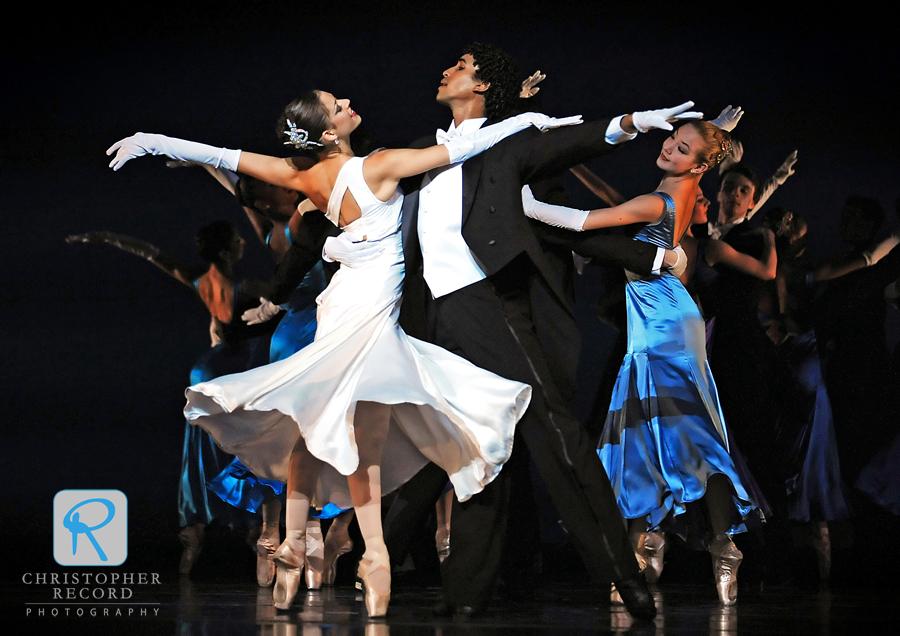 Anna Gerberich and Addul Manzano lead an elegant waltz