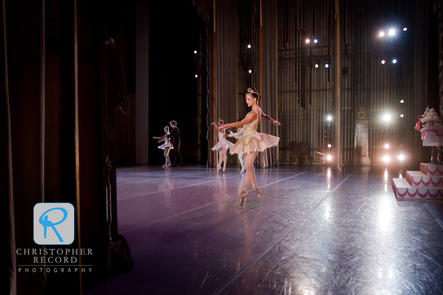 Anna Gerberich and other dancers practice their steps