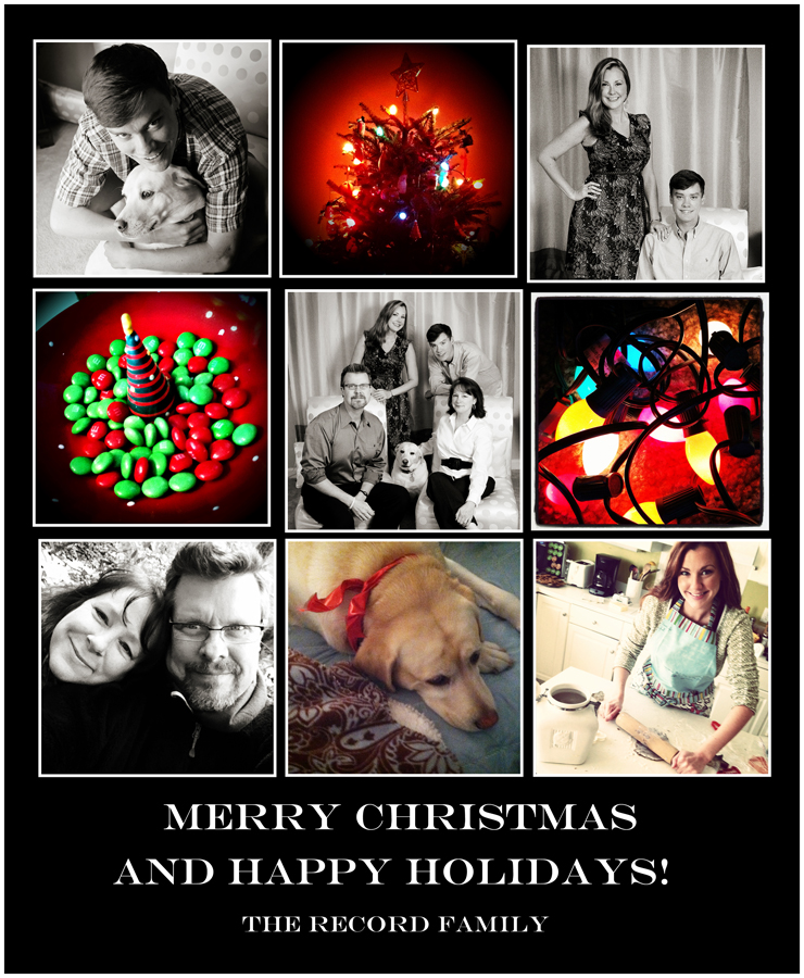 Happy Holidays from Chris, Betsy, Alison and Sean!