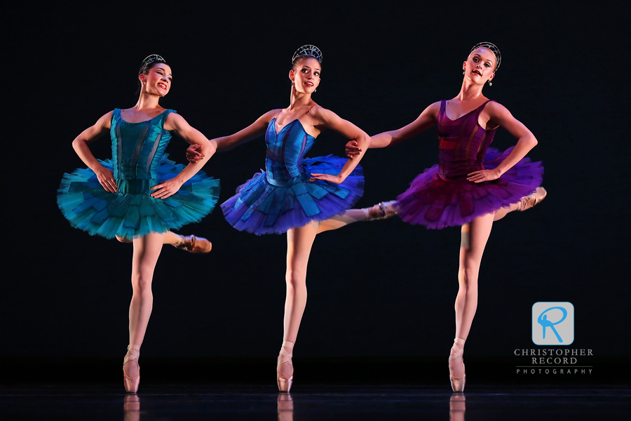 From left, Emily Ramirez, Anna Gerberich and Sarah Hayes Watson in Rhapsodic Dances