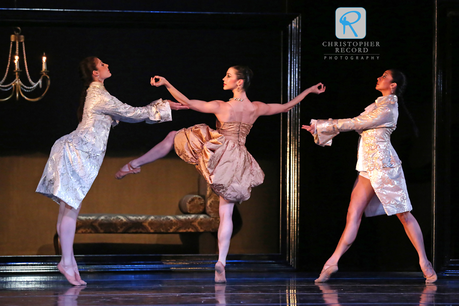 From left, Patricia Keleher, Emily Ramirez and Melissa Anduiza in L'heure Bleue