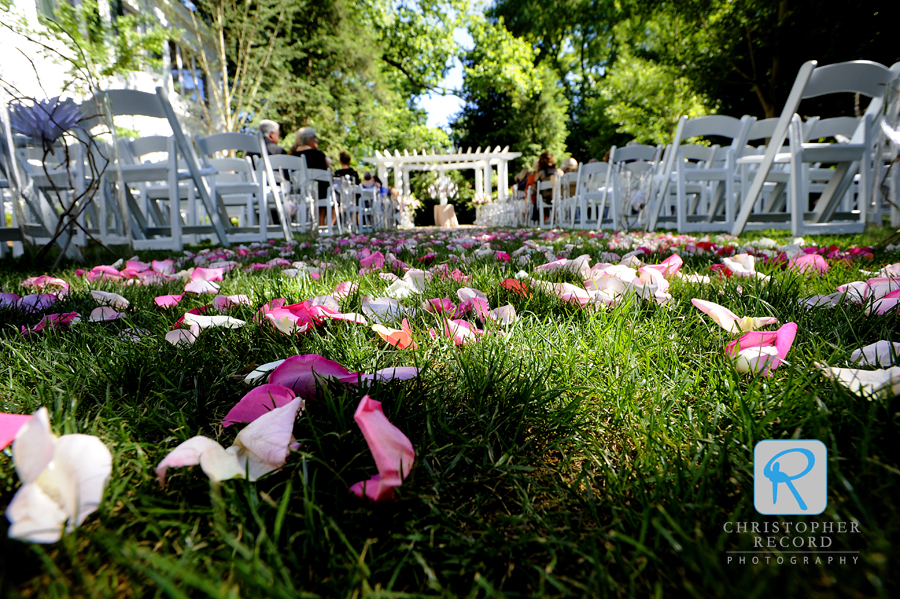 Gorgeous day for the outdoor ceremony