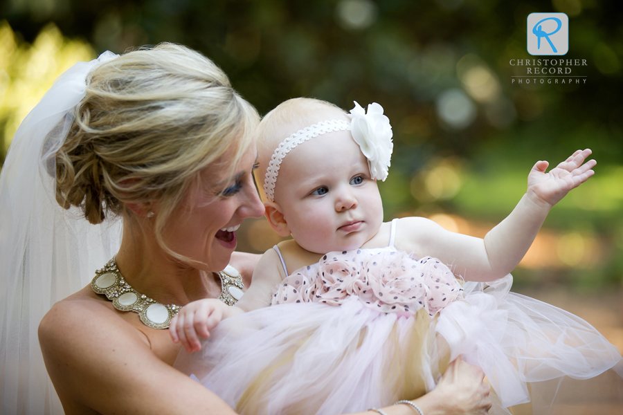 With the little flower girl