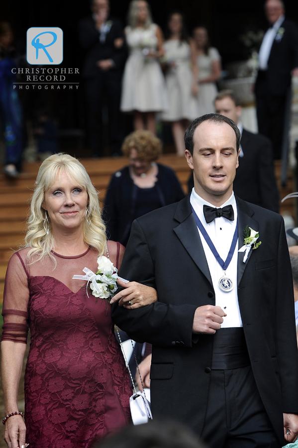 Sean escorts his mother