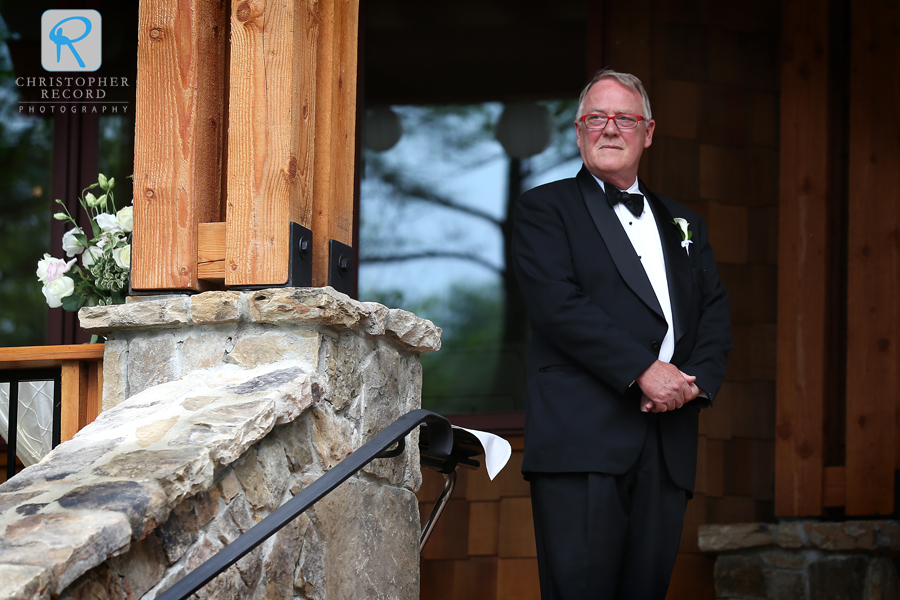 Wilton, Elizabeth's father, waits for the big moment