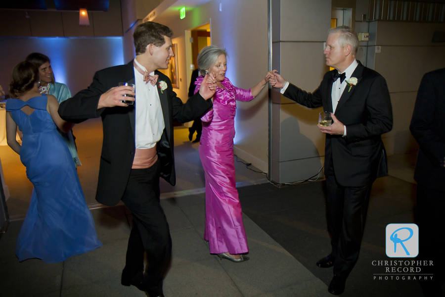 Bill's mother dances wiht his brother and father