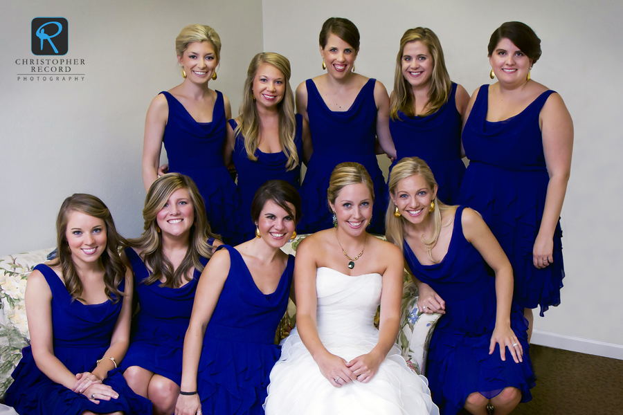 Sarah Dorsett with her bridesmaids