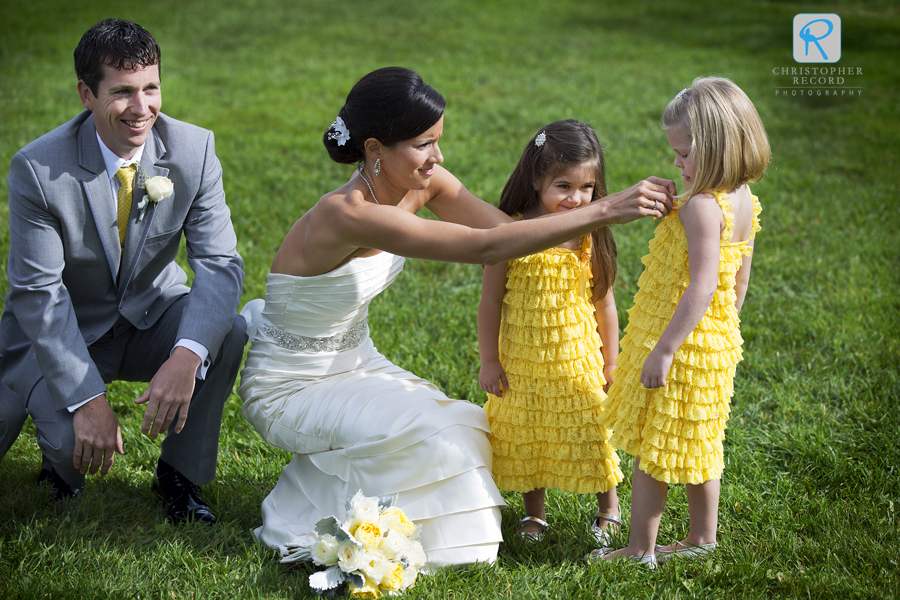 Anne Marie and Joey with the flower girls