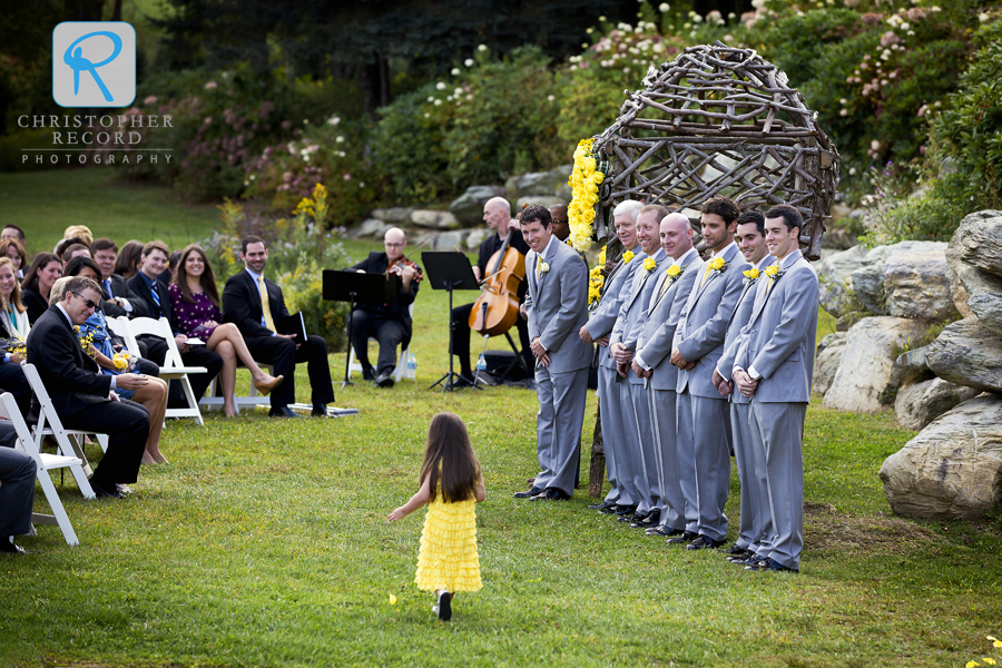 All eyes on the flower girl