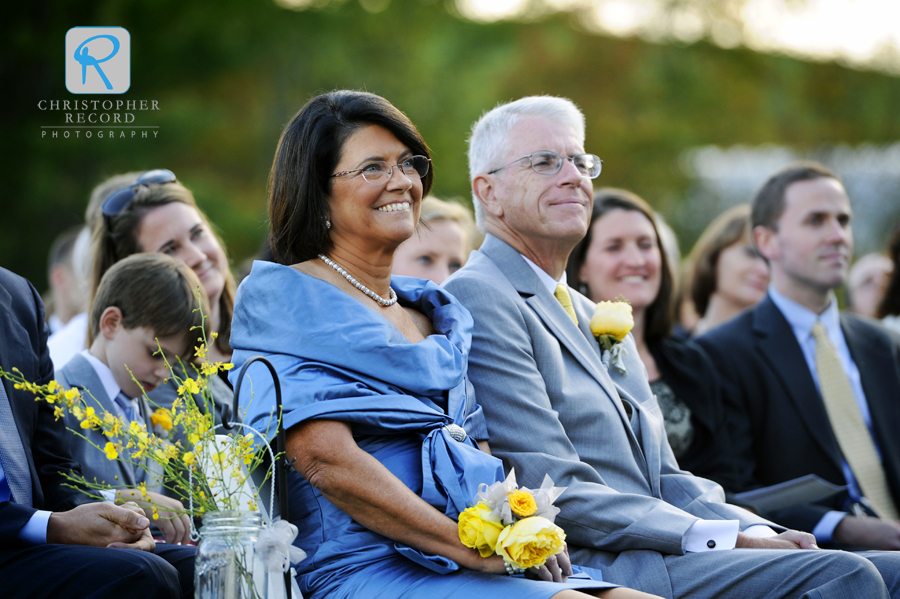 Anne Marie's parents during the ceremony