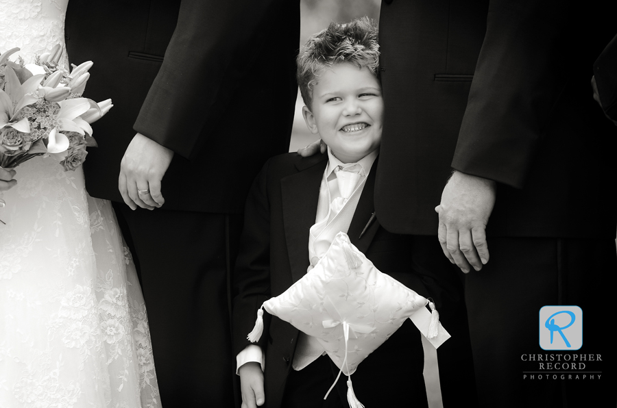 Todd captured the ring bearer as we took group photos