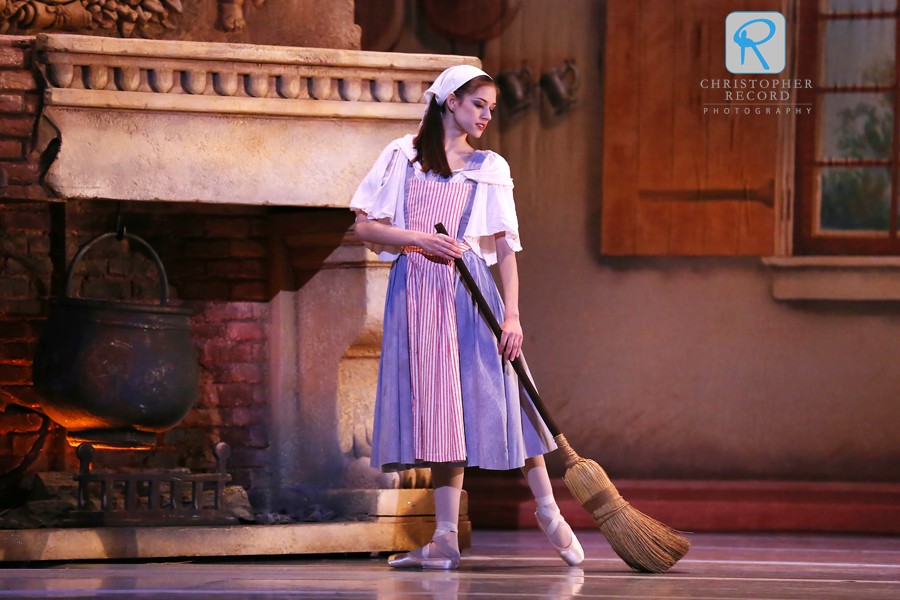 Cinderella takes care of her chores