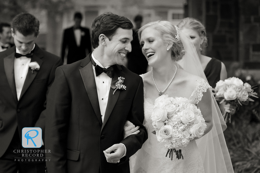 Happy moment leaving the ceremony