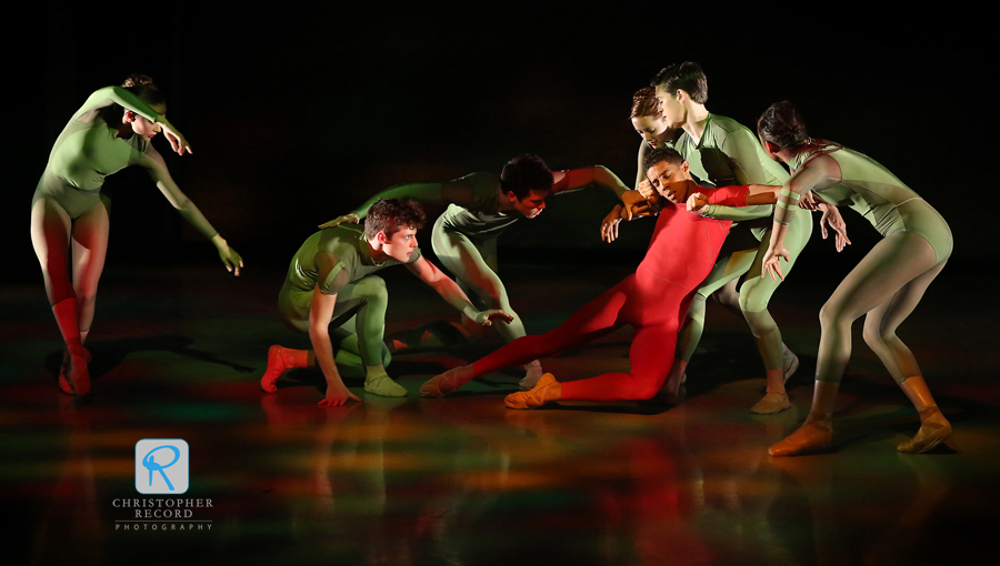 Dancers perform Path by Mark Diamond