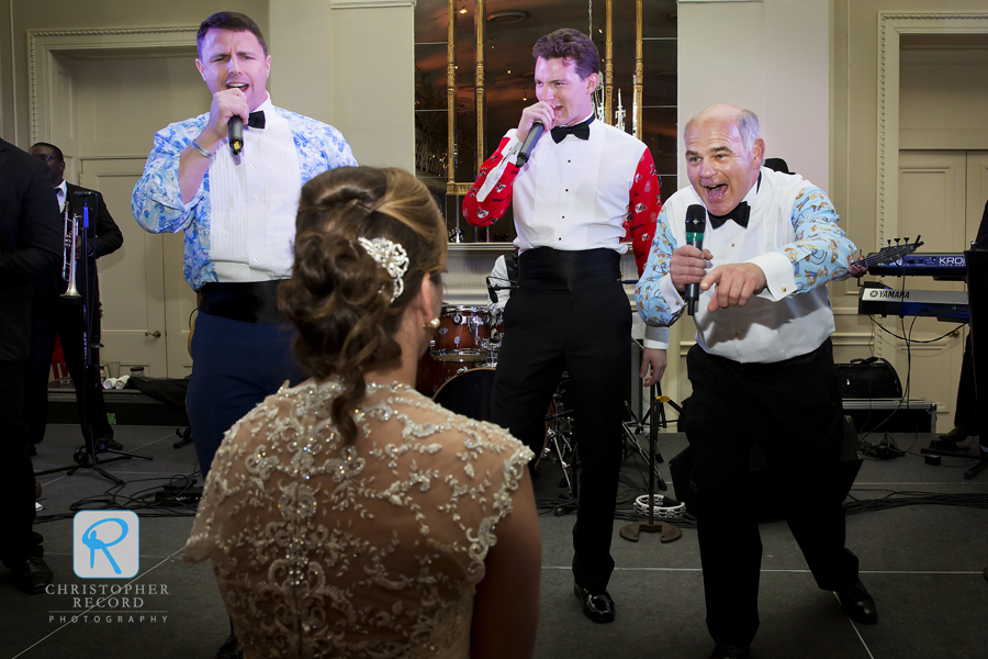 Serenading the bride