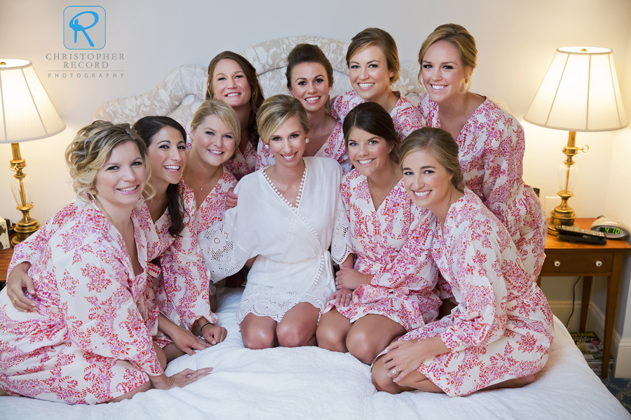 Merritt and her bridesmaids