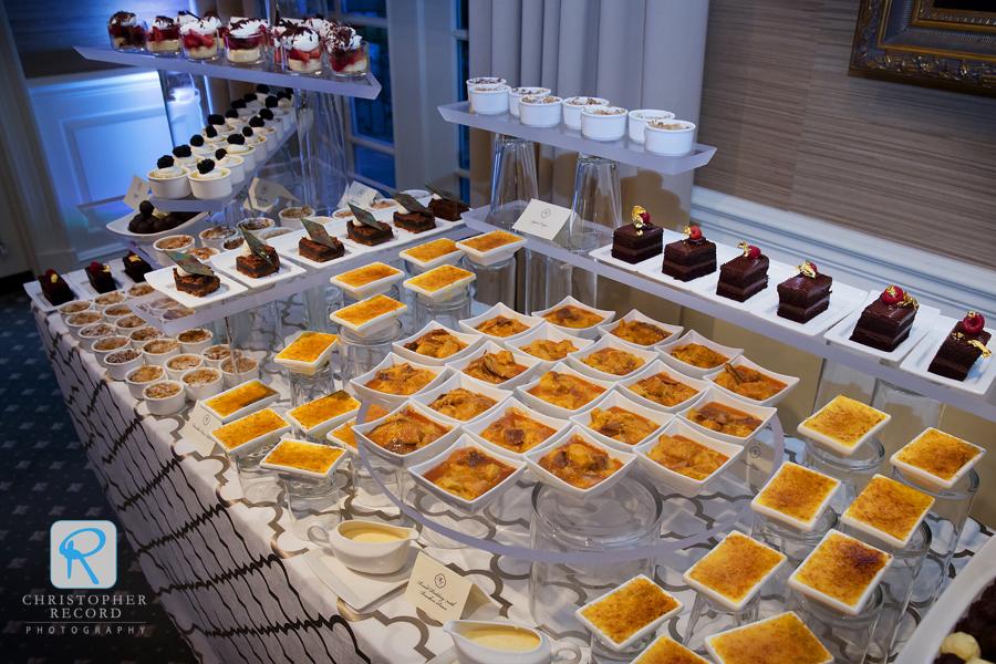 Sumptuous dessert bar