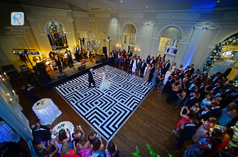 The unique dance floor helped create an incredible setting