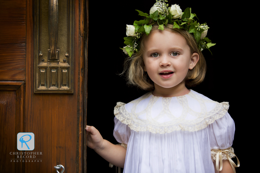 Izzy's niece Eloise, who mother's wedding we photographed six years ago