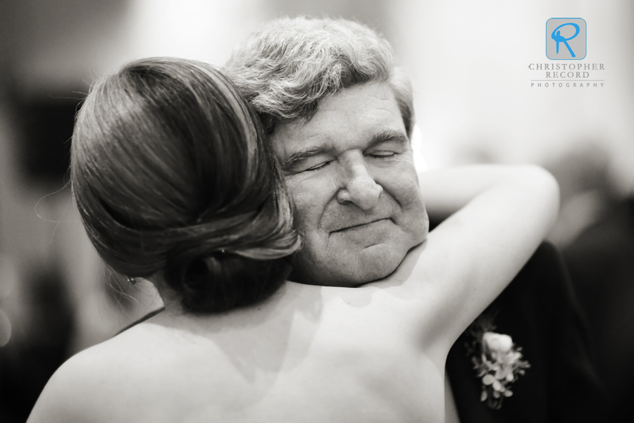 Jim hugs his daughter