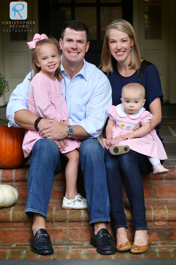 Ben and Sarah with their children, Ellie and baby Kate