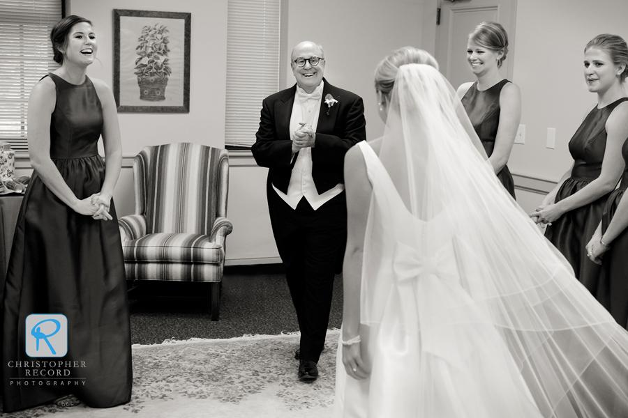 Bill sees his daughter the bride