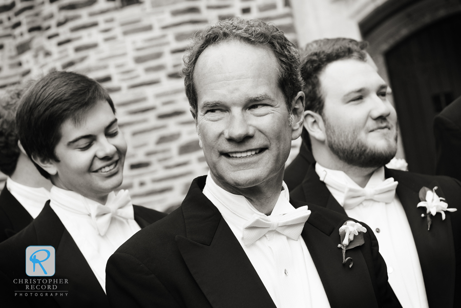 The grooms father Bryan