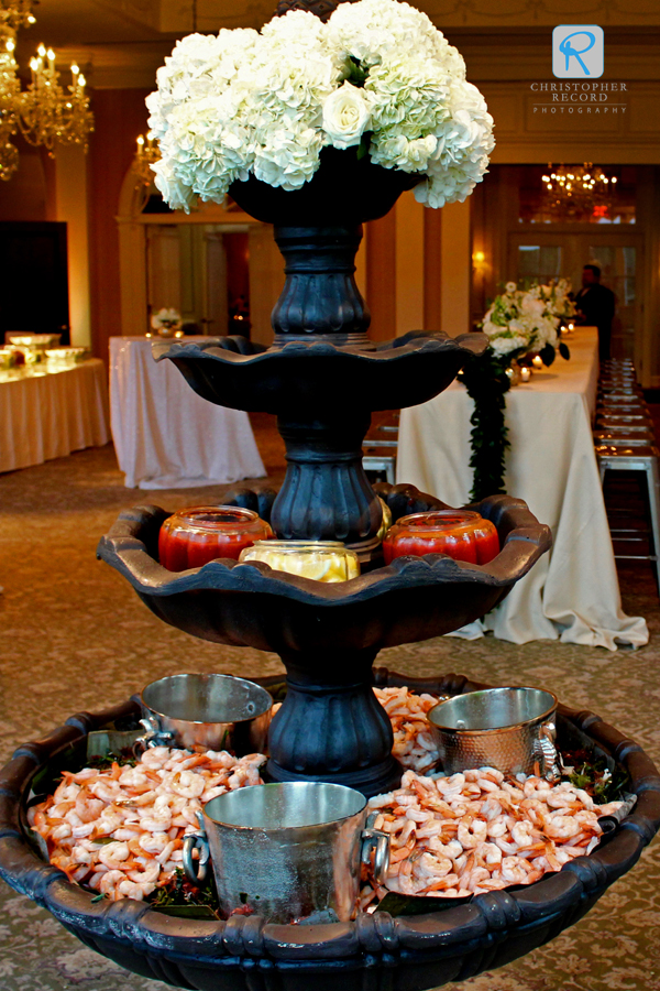 Shrimp fountain