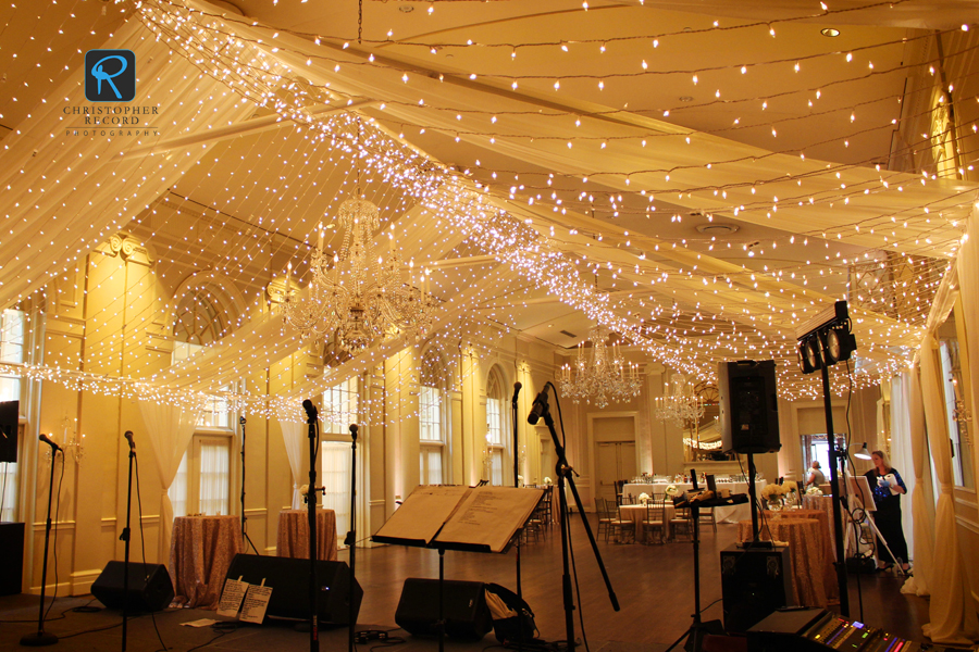 Gorgeous transformation of the ballroom
