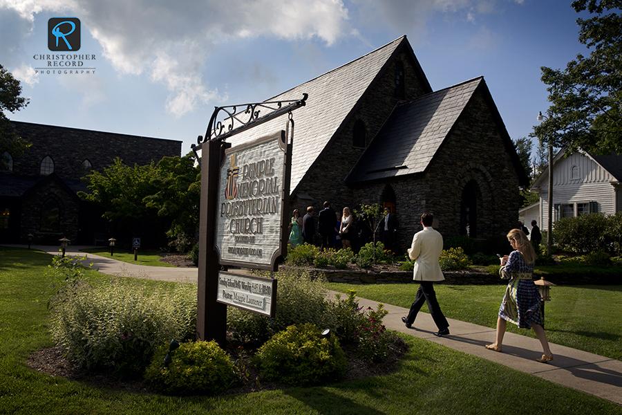 The setting, Blowing Rock's historic Rumple Memorial Presbyterian Church
