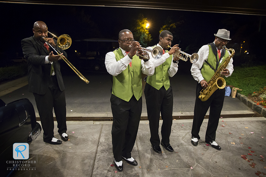 The horn section of Big Swing & The Ballroom Blasters