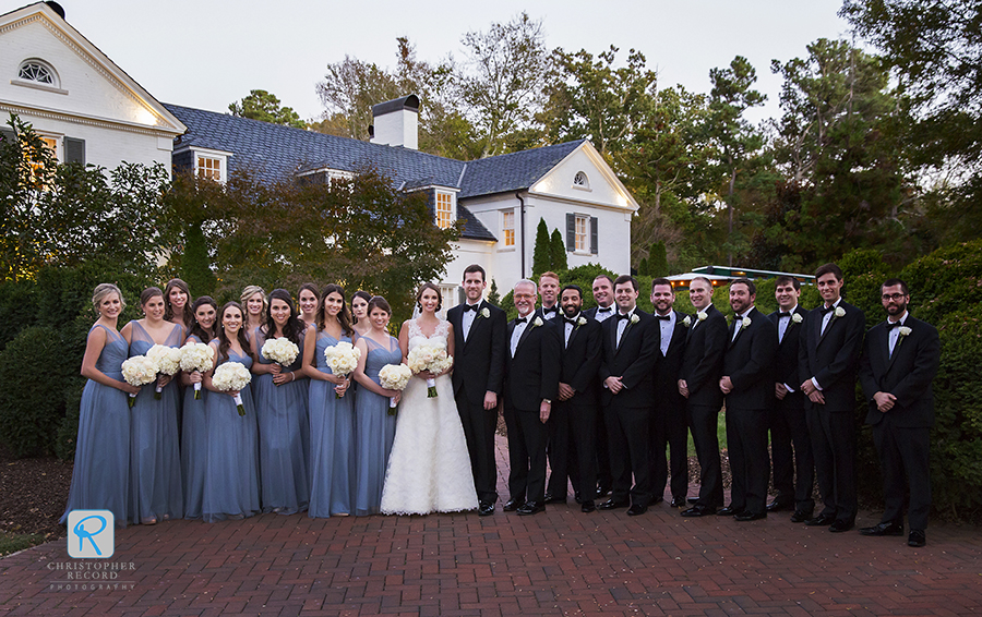 Wedding party at the Boxwood Estate