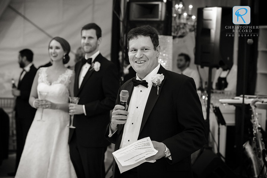 Paul greets the guests